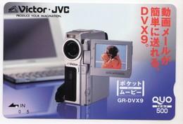 JAPON CARTE QUO PREPAYE VICTOR JVC CAMERA - Publicité