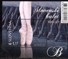 SLOVENIA , 2018, MNH, DANCING, BALLET, 100 YEARS OF SLOVENIAN BALLET, S/SHEET - Dance