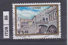 ITALIA REPUBBLICA  2004Turismo, Viterbo, Usato - 6. 1946-.. Repubblica