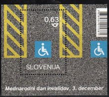 SLOVENIA , 2018, MNH, INTERNATIONAL DAY O PERSONS WITH DISABILITIES , S/SHEET - Handicaps