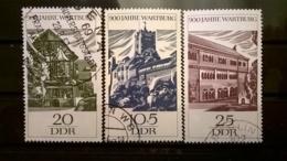 FRANCOBOLLI STAMPS GERMANIA DEUTSCHE DDR 1966 USED SERIE COMPLETA ANNIVERSARY WARTBURG GERMANY - [6] Repubblica Democratica