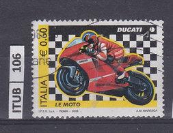 ITALIA REPUBBLICA   2008   Moto Ducati, Usato - 6. 1946-.. Repubblica