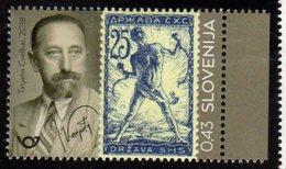 SLOVENIA , 2018, MNH, STAMP ON STAMP, CENTENARY OF SLOVENE POSTAGE STAMPS, 1v - Stamps On Stamps