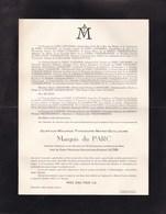 VLAMERTINGHE VLAMERTINGE Gustave Marquis Du PARC Veuf SILTZER 1854-1952 Né HEER Limbourg Hollandais - Décès