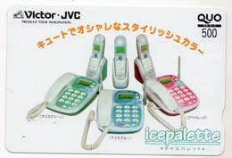 JAPON CARTE QUO PREPAYE VICTOR JVC TELEPHONE - Publicité