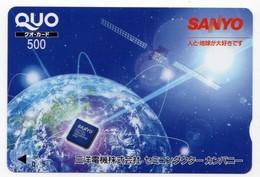 JAPON CARTE QUO PREPAYE SANYO - Publicité