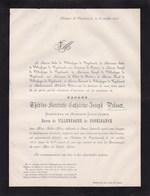 ZOLDER LIEGE Thérèse PELSSER Veuve Du Baron Louis-Ignace Baron De VILLENFAGNE De VOGELSANCK 81 Ans 1873 - Décès