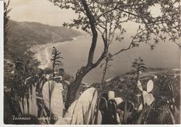 64-Taormina-Messina-Veduta-Storia Postale-coppia 3L Democratica-v.1945 Da Giarre X San Leonardello-Catania - Messina