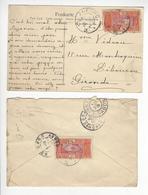 1 CPA + 1 LETTRE DAHOMEY ANECHO TOGO 16 /FREE SHIP. R - Congo Français (1891-1960)