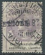 1924 REGNO ENTE PARASTATALE USATO ASSIC INF LAVORO 50 CENT SASSONE 21 - M48-5 - 1900-44 Vittorio Emanuele III
