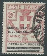 1924 REGNO ENTE PARASTATALE USATO INV GUERRA ROMA 10 CENT SASSONE 71 - M48-2 - 1900-44 Vittorio Emanuele III
