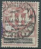 1924 REGNO ENTE PARASTATALE USATO INV GUERRA ROMA 10 CENT SASSONE 71 - M48-7 - 1900-44 Vittorio Emanuele III