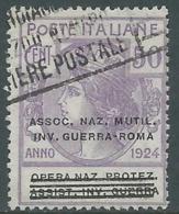 1924 REGNO ENTE PARASTATALE USATO INV GUERRA ROMA 50 CENT SASSONE 74 - M48-3 - 1900-44 Vittorio Emanuele III