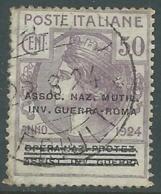 1924 REGNO ENTE PARASTATALE USATO INV GUERRA ROMA 50 CENT SASSONE 74 - M48-4 - 1900-44 Vittorio Emanuele III