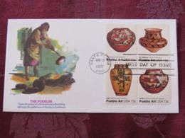 USA 1977 FDC Cover Santa Fe - Pueblo Art - Pueblos - Ceramic - Set - Etats-Unis