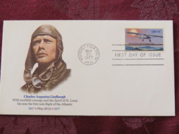 USA 1977 FDC Cover Roosevelt Field - Plane - Lindbergh - Etats-Unis