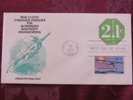 USA 1977 FDC Stationery Cover Houston - Non-profit Organization - Mercury - Plane - Lindbergh - Etats-Unis