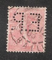 Perforé/perfin/lochung France No 129 E.P.  E. Pichot - France