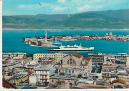 60-Messina-Panorama Dello Stretto-Nave-Porto-v-1967 X Aci S.Antonio-Catania - Messina