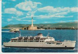 59-Messina-Panorama Dello Stretto-Nave-Aliscafo-Porto-v-1974 X Aci S.Antonio-Catania - Messina