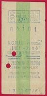 TICKET De TRAIN Italie ZACCARIA FERROVIA Corsa Semplice ACNIL Venezia 1967 - Chemins De Fer