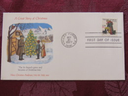USA 1977 FDC Cover Valley Forge - Hans Christian Andersen - Fir Tree - A Great Story Of Christmas - Etats-Unis