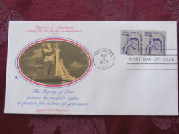 USA 1977 FDC Cover Tampa - U.S. Bicentennial - Majesty Of Law - Right To Petition For Redress (coil) - Etats-Unis
