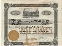 Titre Ancien - Sedalia And California Oil Company - Titre De 1902 - Déco - - Pétrole