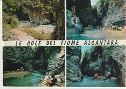 57-Gole Dell' Alcantera-Taormina-Messina-4 Vedutine-scritta X Catania-non Viaggiata. - Messina