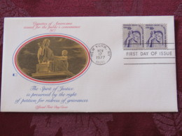 USA 1977 FDC Cover New York - U.S. Bicentennial - Spirit Of Justice - Right To Petition For Redress - Etats-Unis