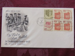USA 1977 FDC Cover Saint Louis - To Cast A Free Ballot - Freedom To Speack Out - Read Books - Etats-Unis