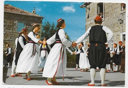 (RECTO / VERSO) DUBROVNIK - COSTUMES NATIONAUX DE CILIPI - BEAUX TIMBRES - FORMAT CPA VOYAGEE - Croatie