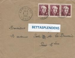 LSC 1951 - Cachet  APPOIGNY  (Yonne) Sur  YT 820  (x3) - 1921-1960: Periodo Moderno
