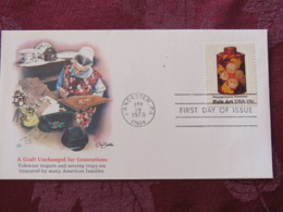 USA 1979 FDC Cover Lancaster - Folk Art - Pennsylvania Toleware - Teapot - Etats-Unis