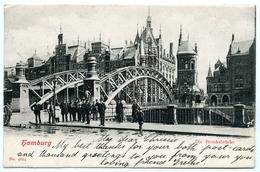 ALLEMAGNE : HAMBURG - DIE BROOKSBRUCKE / POSTMARK - GARSTEDT, 1903 / ADDRESS - DUNFERMLINE, SCOTLAND, LOCHY COTTAGE - Allemagne