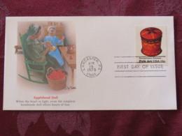 USA 1979 FDC Cover Lancaster - Folk Art - Pennsylvania Toleware - Applehead Doll - Etats-Unis