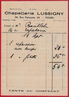 Bon De Livraison (Facture) Chapellerie LUSSIGNY Rue Nationale 37 TOURS ** Chapeau Mode - Textile & Vestimentaire