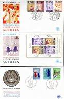 LOT 180 FDC ANTILLES NEERLANDAISES NEUVES - MAJORITE THEMATIQUES ANNEES 80/90 - - Collections (sans Albums)