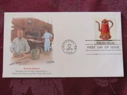 USA 1979 FDC Cover Lancaster - Folk Art - Pennsylvania Toleware - Coffee Pot - Pretzel Bakers - Etats-Unis