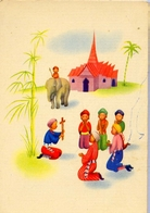 Bambini - India - 2 - Formato Grande Non Viaggiata - E 12 - Scene & Paesaggi