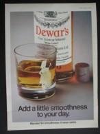 DEWARS SCOTCH WHISKY. ORIGINAL 1974 MAGAZINE ADVERT - Advertising