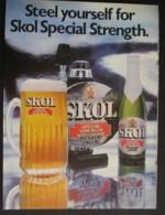 SKOL PILSNER LAGER . ORIGINAL 1974 MAGAZINE ADVERT - Other