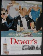 DEWARS WHISKY. ORIGINAL 1964 MAGAZINE ADVERT . - Sonstige
