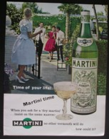 DRY MARTINI. ORIGINAL 1962 MAGAZINE ADVERT - Advertising