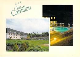 """48 - AUMONT AUBRAC : Hotel Restaurant """" CHEZ CAMILLOU """" RN 9 Route Du Languedoc - CPSM GF - Lozere - Aumont Aubrac"""