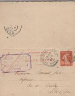 1907 - Cachet Perlé Sainghin-en-Weppes  (Nord) Sur Carte Lettre - Letter Cards