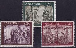 French Andorra (Sc #185-87), MNH, (Complete Set Of 2 ) Fresco Type--Religion (1968)1s - Neufs