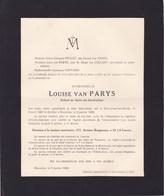 SAINT-JOSSE Uccle Louise Van PARYS Enfant De Marie Du Sacré-Coeur 1867-1928 - Décès