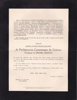 MEAUX ARDOYE Anne-Louise De PECHPEYROU COMMINGES De GUITAUT Vicomtesse De JONGHE D'ARDOYE 1931 2 Volets Complets - Décès
