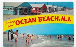 (RECTO / VERSO) OCEAN BEACH IN 1967 - GREETINGS FROM OCEAN BEACH - BEAU TIMBRE - FORMAT CPA VOYAGEE - Etats-Unis